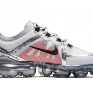 Nike Men's Air Vapormax 2019 Pure Platinum/White/Team Orange/Black