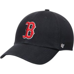 Men's '47 Brand Navy Boston Red Sox Basic Logo Clean Up Game Adjustable Hat